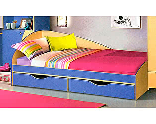 Кровать с ящиками КМК Молодежный (80), 0302