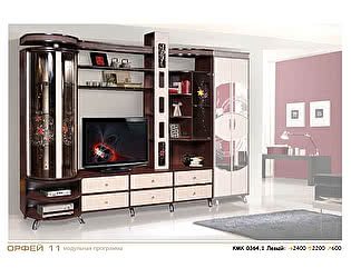 Шкаф комбинированный с витриной КМК Орфей-11, 0364.1-левый