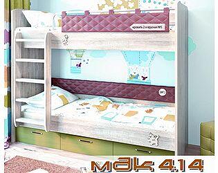 Кровать 5 + спинка СМ 7.2 (терракот) Корвет МДК 4.14
