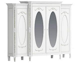 Шкаф Довиль большой 4 двери с зеркалами