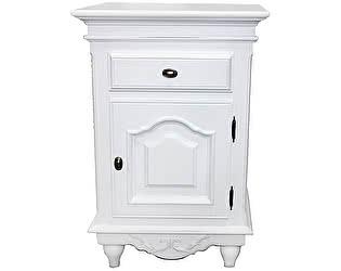 Тумбочка Home Provance  прикроватная с дверкой белая
