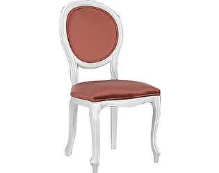 Купить стул La Neige белый мягкий с коралловой обивкой в стиле Прованс