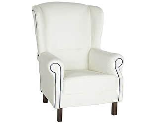 Кресло белое с синим кантом