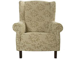 Кресло Лианы цвета льна с орнаментом