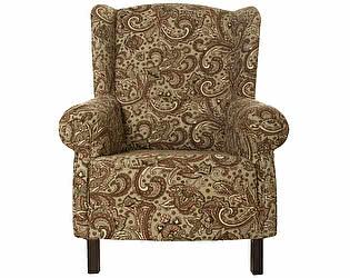 Кресло коричневое с восточным орнаментом