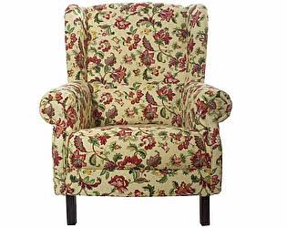 Кресло желтое с цветочным орнаментом Цветы Прованса