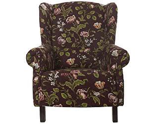 Кресло бордового цвета с цветочным орнаментом Цветы Прованса