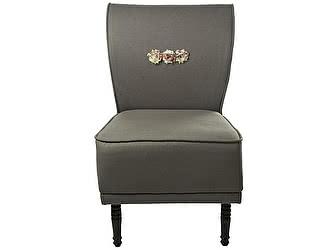 Кресло-волна малое серое, декорированное розами Цветы Прованса