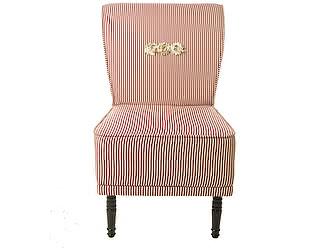 Кресло-волна малое в бордовую полоску, декорированное розами Цветы Прованса