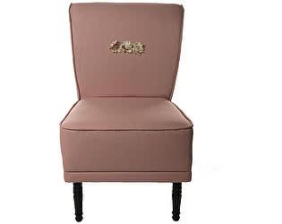 Кресло-волна малое розовое, декорированное розами Цветы Прованса