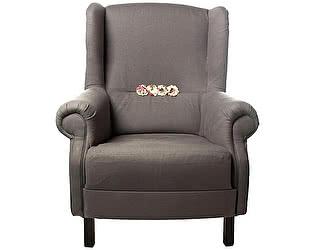 Кресло серое, декорированное розами Цветы Прованса
