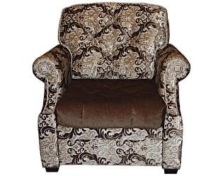 Кресло бежевое с коричневым Зимняя Венеция