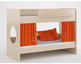 Комплект занавесок и 2 наволочек Легенда 25 (оранжевый)
