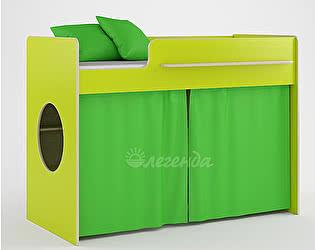 Комплект занавесок и 2 наволочек Легенда 26 (светло-зеленый)