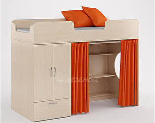Комплект занавесок и 2 наволочек Легенда 3 (оранжевый)