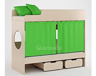 Комплект занавесок и 2 наволочек Легенда 7 (светло-зеленый)