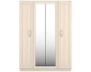 Шкаф 4 дверный с 2 зеркалами Луи Дюпон Тема Беж