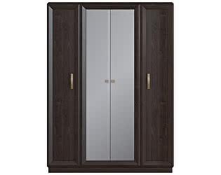 Шкаф 4 дверный с 2 зеркалами Луи Дюпон Тема Венге
