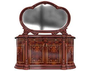 Комод 4 дверный с зеркалом Луи Дюпон Роза Орех