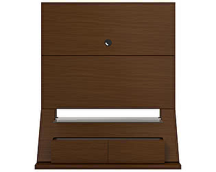 ТВ стеллаж MANHATTAN COMFORT Home Skyline 1.3 nut brown Темный орех