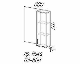 Полка с зеркалом Эра Ника (ПЗ800)