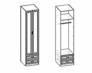 Шкаф Santan Калипсо-Д-(600)-11 2хдверный со штангой патина