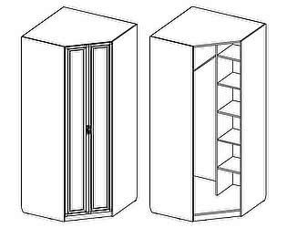 Шкаф угловой Santan Калипсо-Д-(600)-07 патина