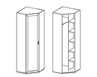 Шкаф угловой Santan Калипсо-Д-(600)-08-3 патина (зеркало)