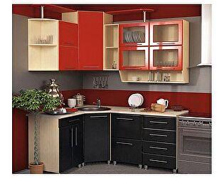Угловая кухня VitaMebel Dolce Vitа-15, МДФ металлик