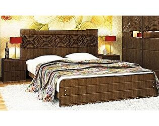 Кровать VitaMebel Vivo-8 (матовый мокко) 140х200