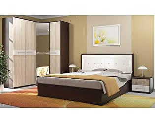 Модульная спальня Стиль Луиза ЛДСП Шимо светлый + 3D Белый кайман