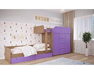 Двухъярусная кровать Московский Дом Мебели Вайолет 80, фиолетовая сняли с продажи 12.09.2017
