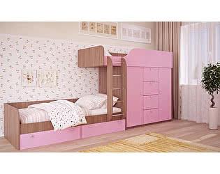 Двухъярусная кровать Московский Дом Мебели Вайолет 80, розовая сняли с продажи 12.09.2017