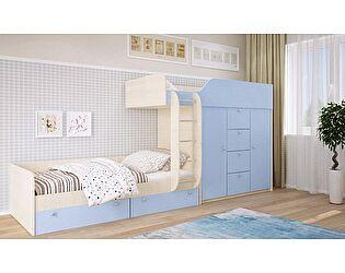 Двухъярусная кровать Московский Дом Мебели Вайолет 80, голубая сняли с продажи 12.09.2017