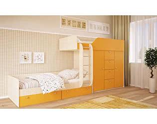 Двухъярусная кровать Московский Дом Мебели Вайолет 80, оранжевая сняли с продажи 12.09.2017