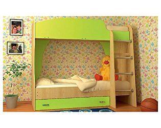 Детская двухъярусная кровать VitaMebel Vitamin А (70 х 190), ЛДСП лайм