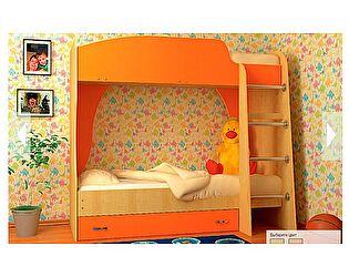 Детская двухъярусная кровать VitaMebel Vitamin А  (70 х 190), ЛДСП оранжевый