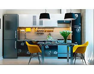 Модульная кухня Горизонт Грация цветы