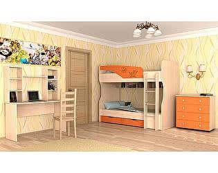 Модульная детская Московский Дом Мебели Британика, оранжевый металлик
