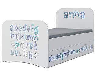Детская кровать Klukva Алфавит Стандарт KE-16Y (ящик ЛДСП выкатной)