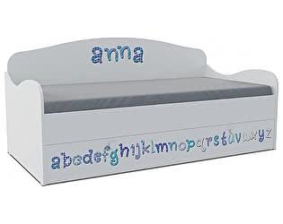 Детская кровать-диван Klukva Алфавит KS-16Y (ящик ЛДСП выкатной)