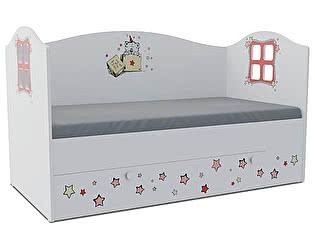 Детская кровать Klukva Тедди Домик KD-16Y  (ящик ЛДСП выкатной)