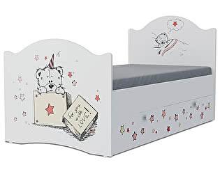 Детская кровать Klukva Тедди Эксклюзив KХ-16Y (ящик ЛДСП выкатной)
