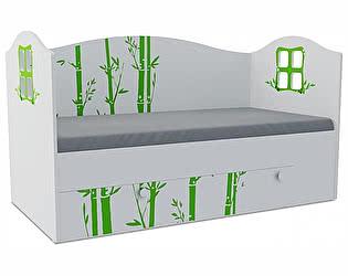 Детская кровать Klukva Панда Домик KD-16Y  (ящик ЛДСП выкатной)