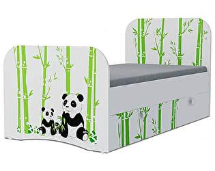 Детская кровать Klukva Панда Стандарт KE-16Y(ящик ЛДСП выкатной)
