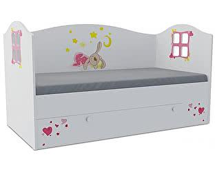 Детская кровать Klukva Зайка Домик KD-16Y  (ящик ЛДСП выкатной)