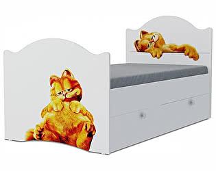Детская кровать Klukva Гарфилд Эксклюзив KХ-16Y (ящик ЛДСП выкатной)
