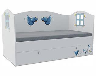 Детская кровать Klukva Мишка boy Домик KD-16Y  (ящик ЛДСП выкатной)
