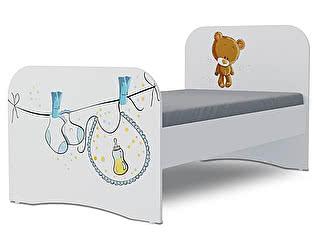 Детская кровать Klukva Мишка boy Стандарт KE-16