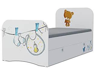 Детская кровать Klukva Мишка boy Стандарт KE-16Y(ящик выкатной)